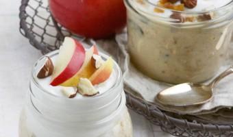 Bircher-Müsli mit Apfelschnitzen