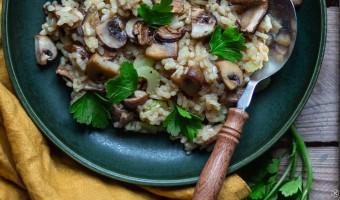 Veganes Risotto mit Pilzen
